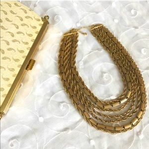 Jewelry - Vintage Runway Fashion, Barrel Chain Necklace